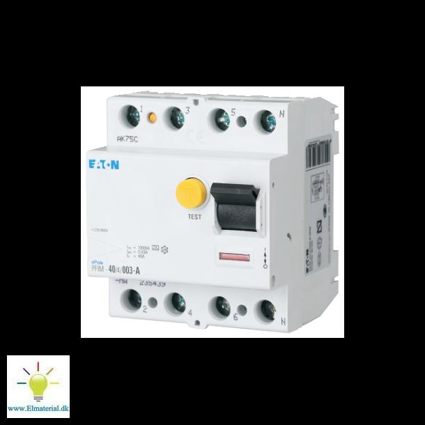 Fejlstrømsafbryder 40A 4P 30Ma (Hpfi Type A)